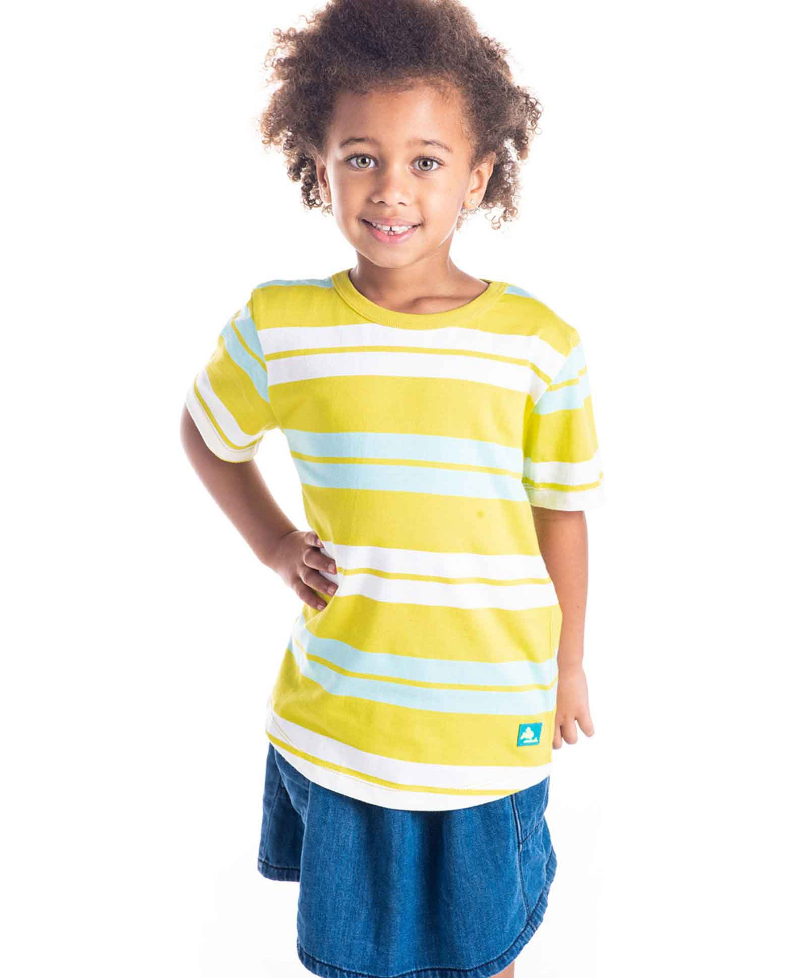e450589a Buy Cherry Crumble California Half Sleeves Striped Tee Yellow for ...