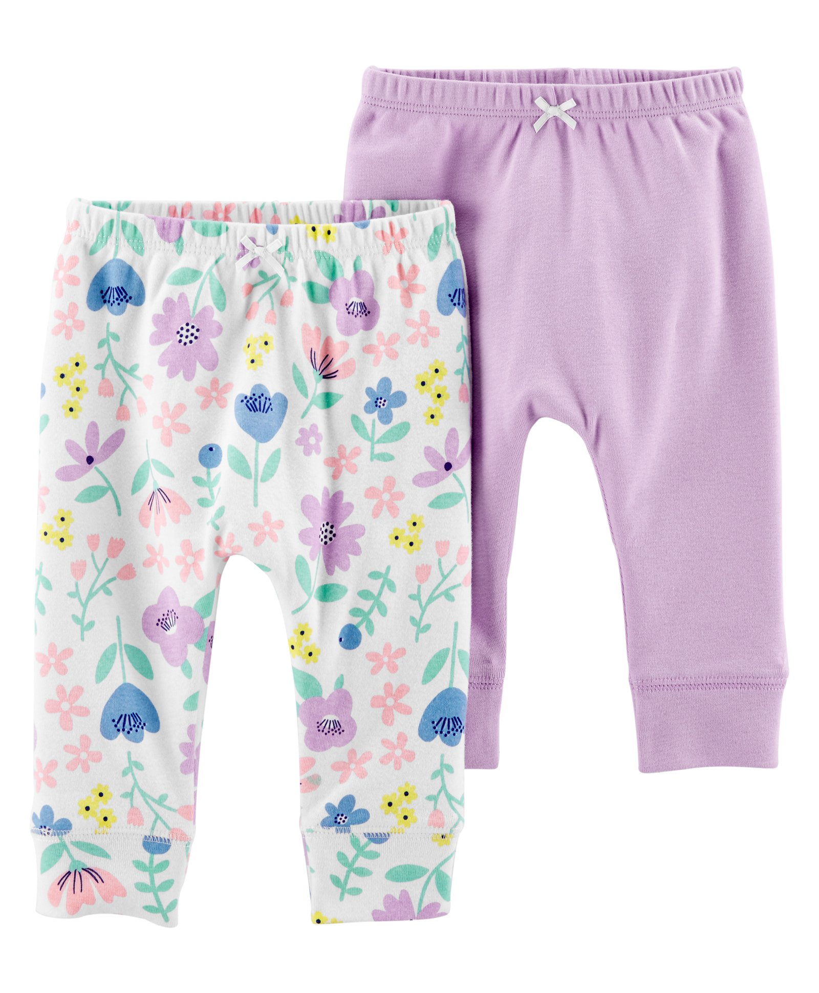 Carters Girls 2 Pack Jersey Leggings Yellow//Pink 3 Months