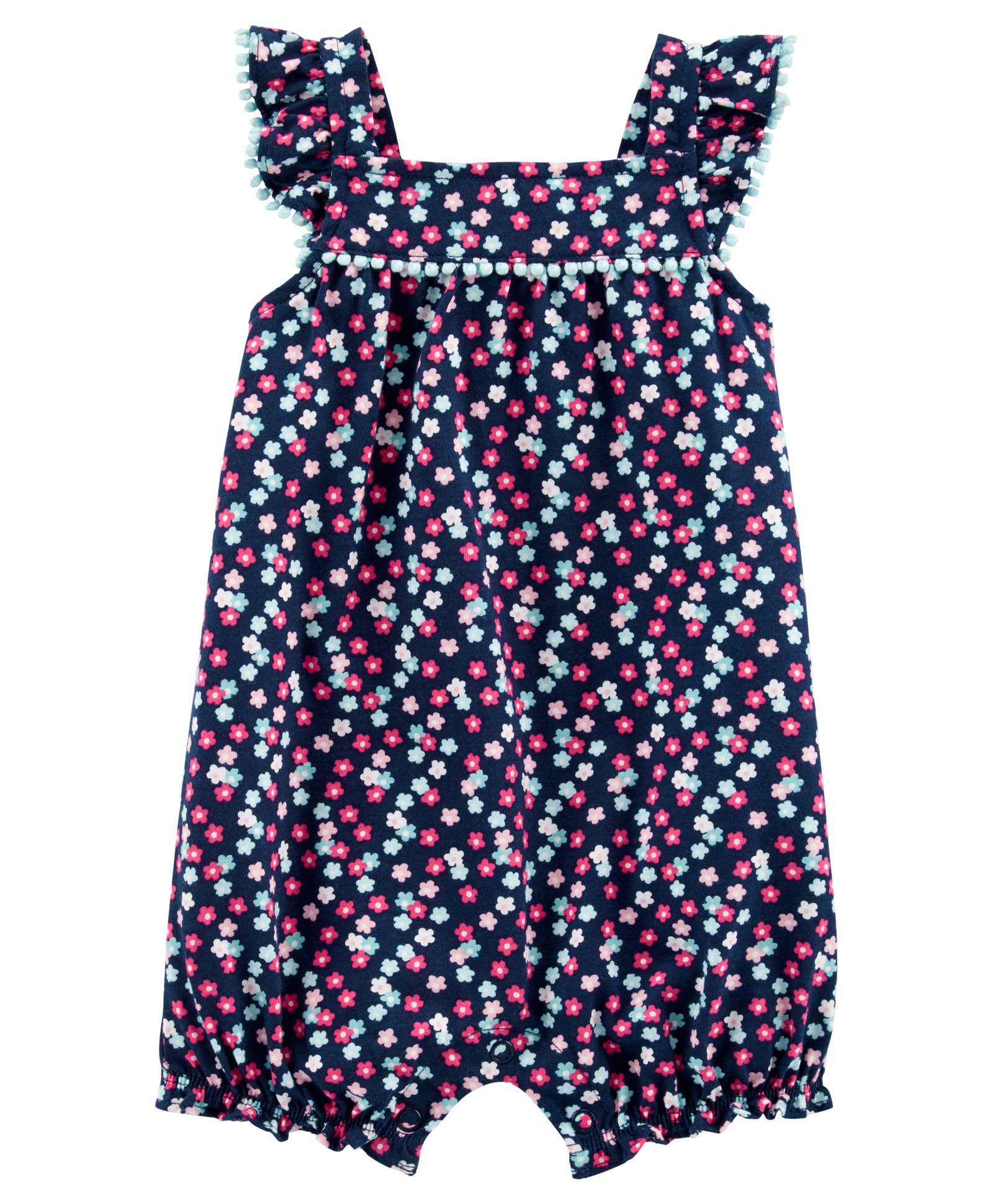 24 month navy romper with flowers