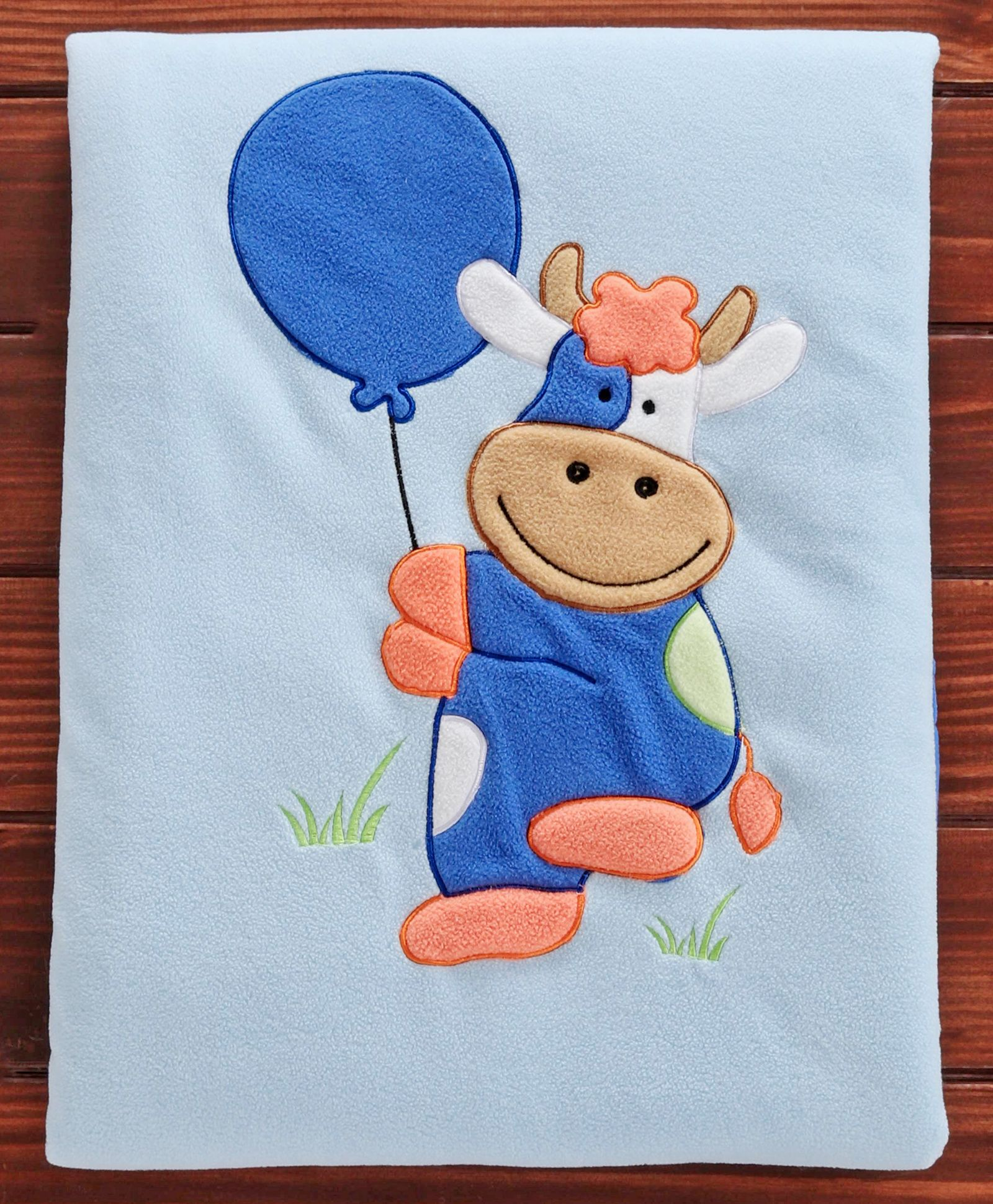 Polyester Baby Blanket Cow Print Blue Online In India Buy At Best Price From Firstcry Com 2956766