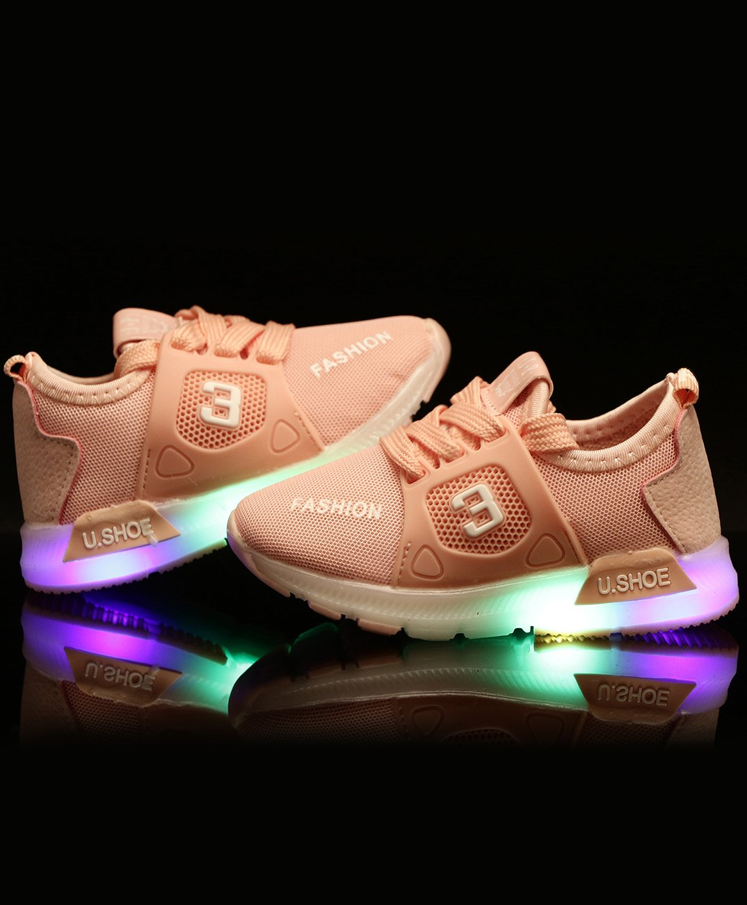 Buy PASSION PETALS 3 Print LED Shoes