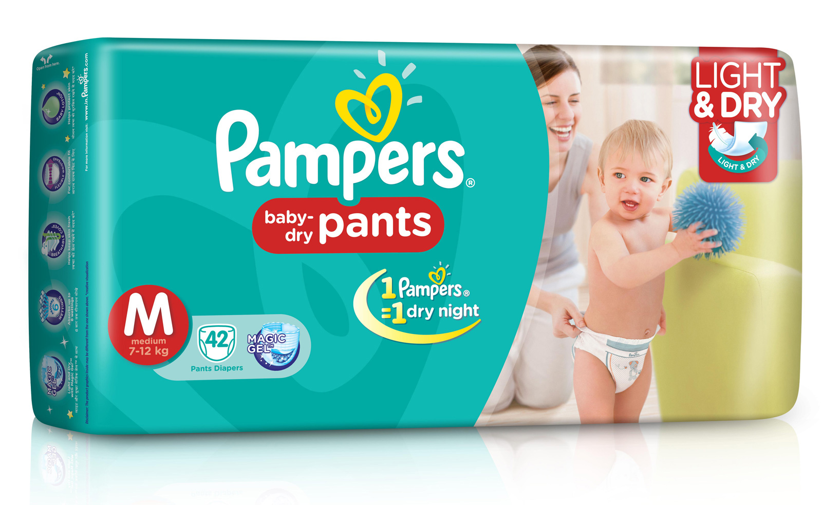 9b4d5aa9792 Pampers Pant Style Diapers Light And Dry Medium 42 Pieces Online ...