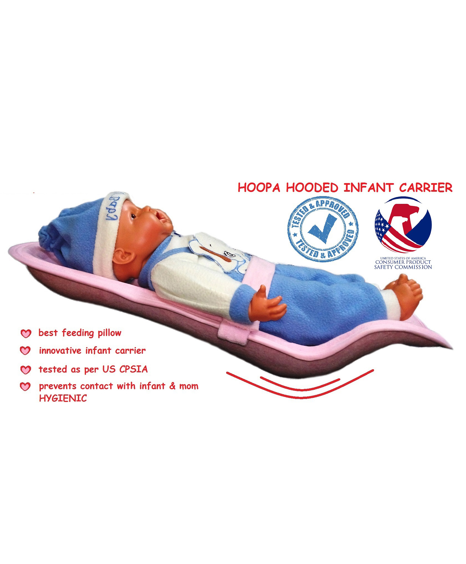 e8b3d049ecb Hoopa Feeding Pillow Cum Carrier Pink Online in India