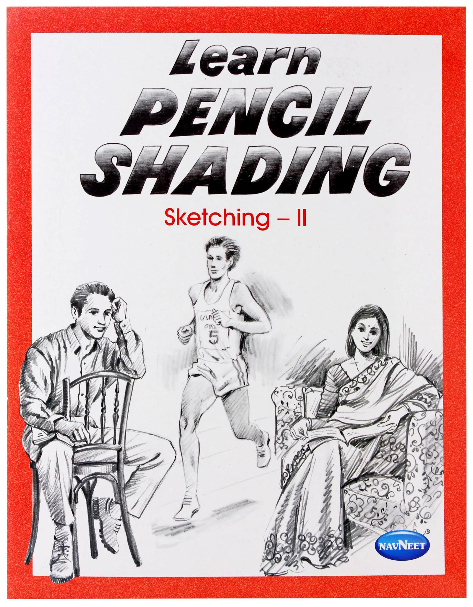 Navneet learn pencil shading sketching book 2