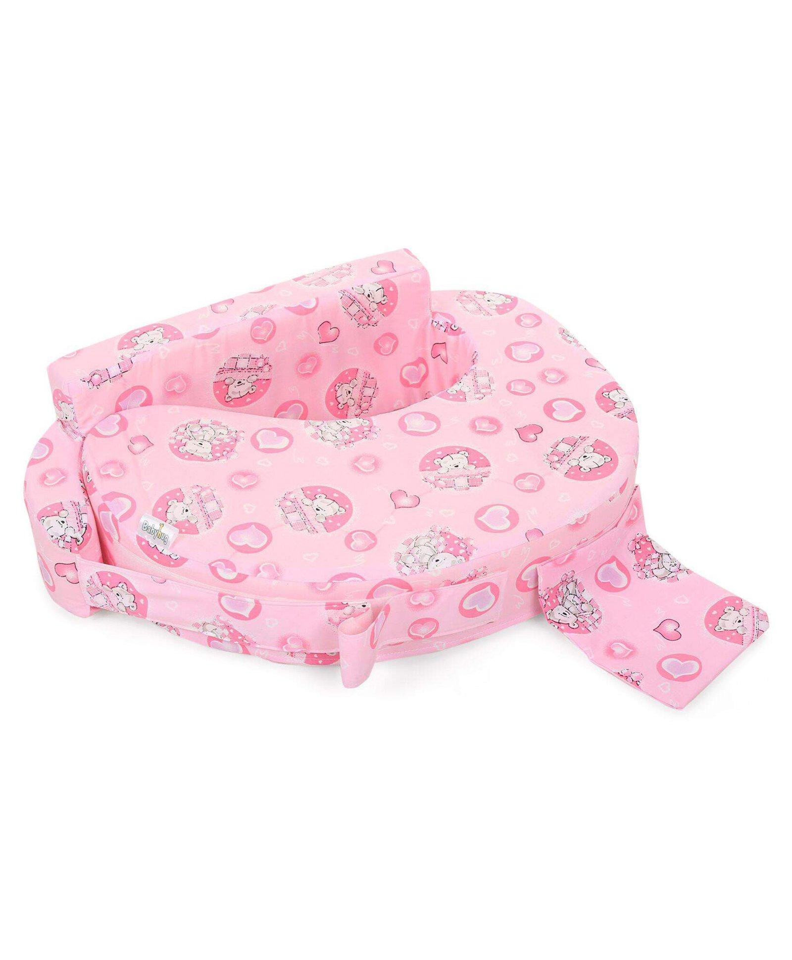 78e5a9b8421 Babyhug Feeding Pillow Teddy   Hearts Print Pink Online in India ...