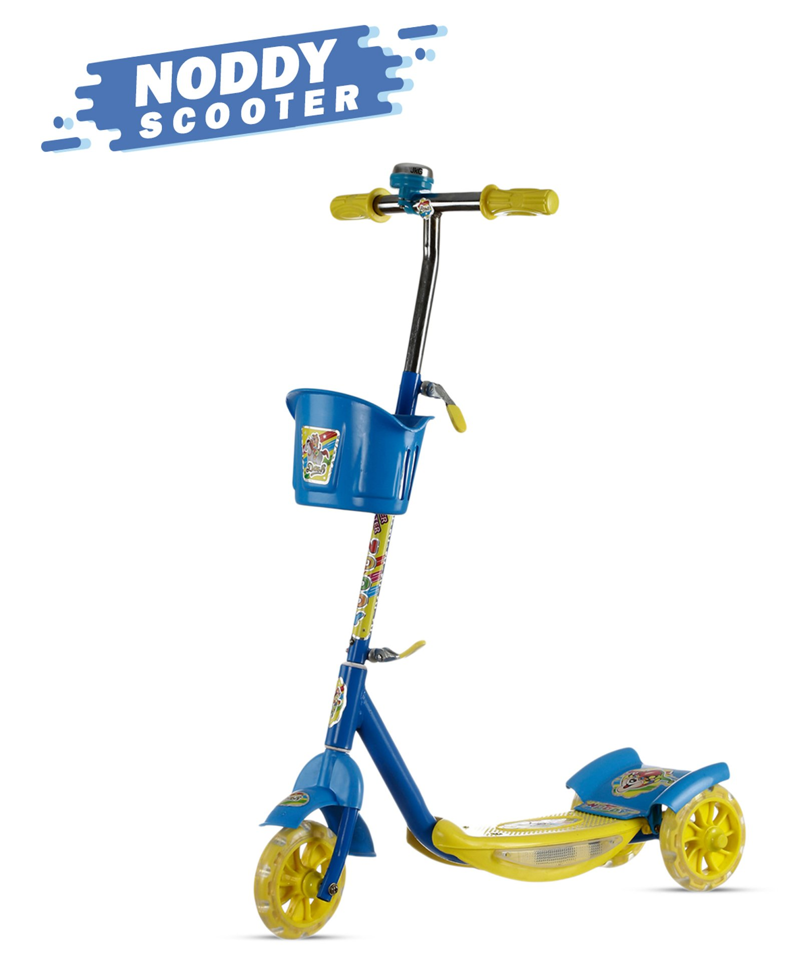 Dash Noddy 3 Wheel Scooter With Storage Basket Bell Blue Online In India Buy At Best Price From Firstcry Com 8552061