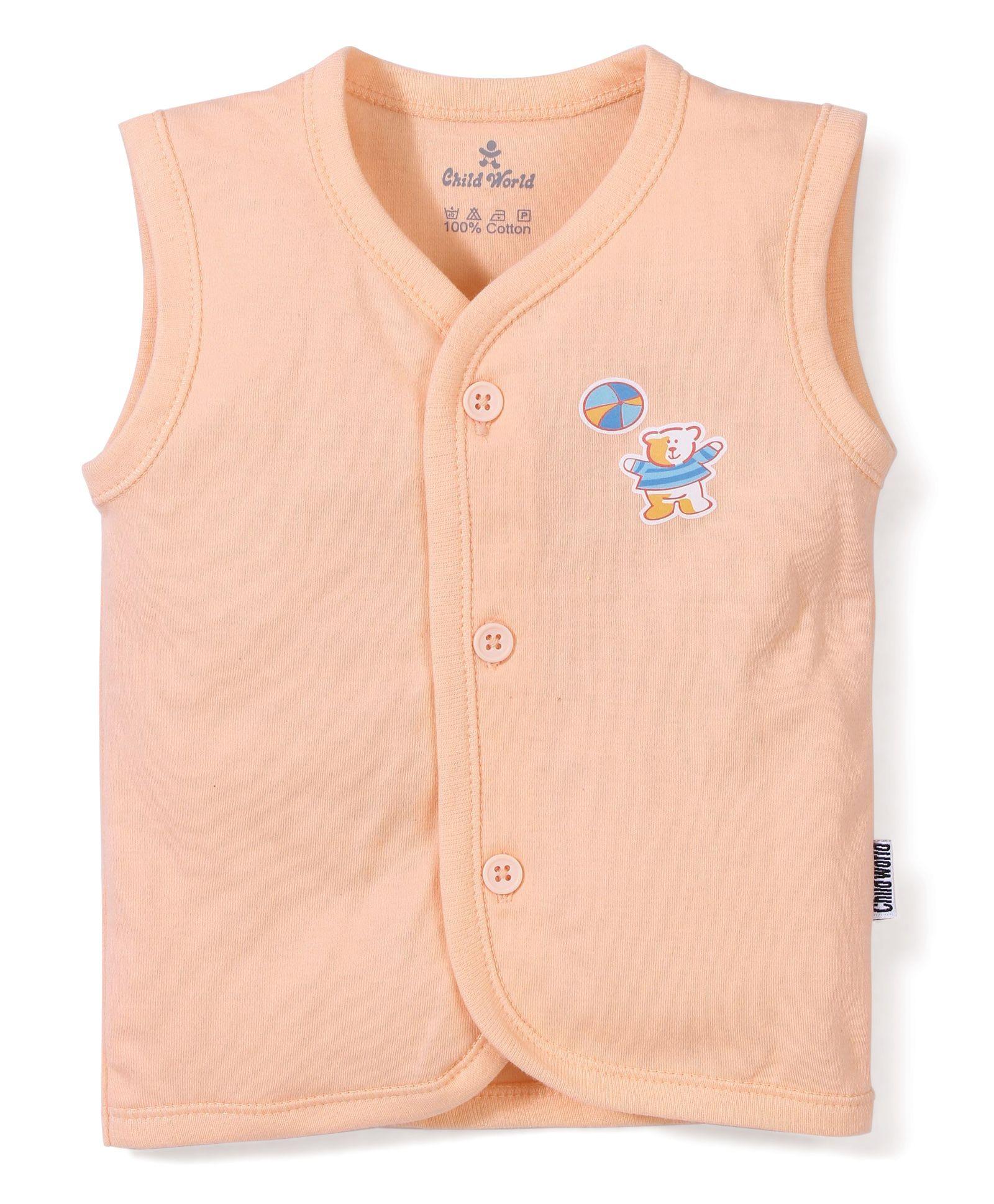 120b9350 Buy Child World Sleeveless Vest (Print May Vary) for Boys (0-3 ...